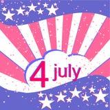 U.S. Dnia Niepodległości tło z elementami  Obraz Royalty Free