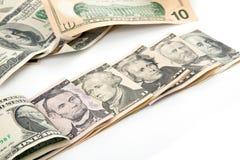 U.S. Dolary wszystkie rachunek waluta Zdjęcia Stock