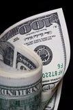 U.S. Dollar. 100 U.S. Dollar notes in a bundle Royalty Free Stock Photos