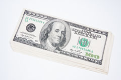 U.S. dollar banknotes after $ 100 Stock Image