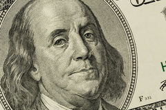 U.s. dollar bill, benjamin franklin Stock Image
