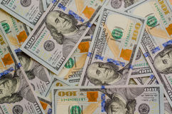 U.S.A. 100 Dollar Bills Background Royalty Free Stock Images