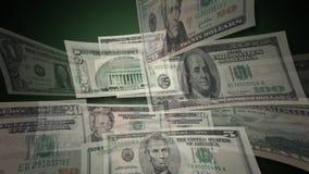 U.S. Dollar Bills Flying By (HD) stock footage