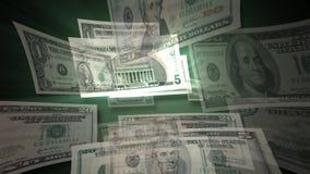 U.S. Dollar Bills Flying By (HD). U.S. Dollar Bills flying by animation. HD 1080 stock video footage