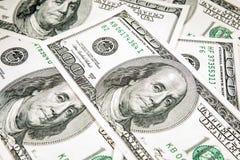 U.S. dollar i nominellt värde av 100 Arkivfoto