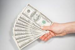 U.S. dollar i nominellt värde av 100 Arkivbilder