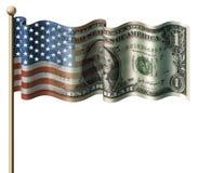 U.S. Dollar-Markierungsfahne Stockfotos