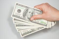 U.S. dollar in nominale waarde van 100 Royalty-vrije Stock Afbeeldingen