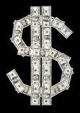U.S. dollar symbol made of var Royalty Free Stock Photo