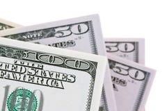 U.S. dollari di fatture. Particolare Immagini Stock Libere da Diritti