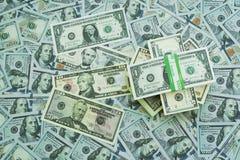 U S Dollari Lotti delle banconote Fotografie Stock Libere da Diritti