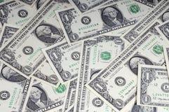 U.S. Dollars. United States one-dollar bill royalty free stock photos