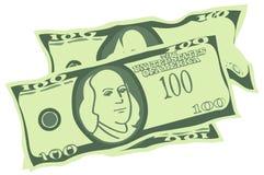 U.S. Dollars Banknotes (Vector) Royalty Free Stock Photos