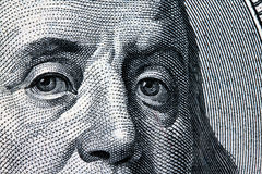 U.S. dollars bills. Detail. Franklin Stock Image