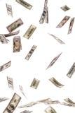 U.S. dollars bills flying through. Many dollars bills flying through the air Royalty Free Stock Photo