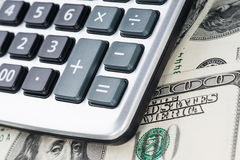 U. S. Dollars and calculator. Royalty Free Stock Image