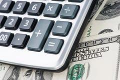 U. S. Dollars and calculator. Royalty Free Stock Image
