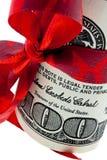 U.S. dollars de billets de banque comme argent Images stock