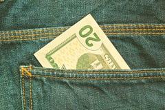 U S Dollars $ 20 rekening Stock Foto's