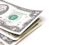U.S. dollars sur un fond blanc Photo stock