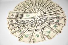 U S dollarsbankbiljetten van de Verenigde Staten van Amerika stock afbeelding