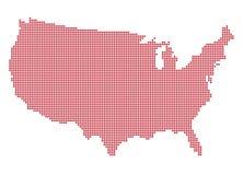 U.S.A. Dot Map Immagine Stock Libera da Diritti