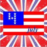 U.S. Dzień Niepodległości, Lipiec 4 tło z Zdjęcia Stock