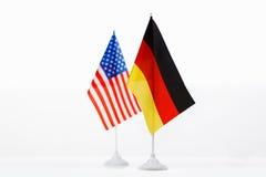 U.S.A. e bandiera della Germania Fotografia Stock Libera da Diritti