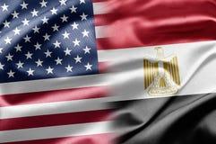 U.S.A. e l'Egitto illustrazione di stock