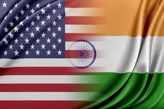U.S.A. e l'India royalty illustrazione gratis
