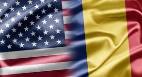U.S.A. e la Romania illustrazione di stock