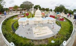 U.S. Edificio de capital en Legoland la Florida Le Fotografía de archivo
