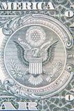 U S Ein Dollarbanknotendetail Lizenzfreie Stockfotografie