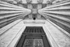 U S Eingang des Obersten Gerichts Lizenzfreies Stockbild