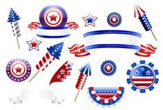 U.S. elementi della decorazione Fotografie Stock Libere da Diritti