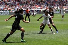 U S Equipe de futebol nacional Christen Press dianteira das mulheres #23 na ação durante o jogo amigável contra México fotografia de stock