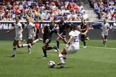 U S Equipe de futebol nacional Christen Press dianteira das mulheres #23 na ação durante o jogo amigável contra México imagem de stock