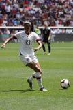 U S Equipe de futebol nacional Christen Press dianteira das mulheres #23 na ação durante o jogo amigável contra México imagens de stock royalty free