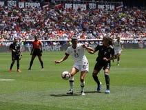 U S Equipe de futebol nacional Christen Press dianteira das mulheres #23 na ação durante o jogo amigável contra México fotos de stock