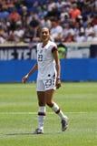 U S Equipe de futebol nacional Christen Press dianteira das mulheres #23 na ação durante o jogo amigável contra México foto de stock