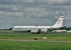 U.S.A.F. Boeing EC-135C 63-8048 que grava en Offutt AFB, Nebraska Fotos de archivo libres de regalías
