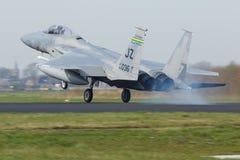 U.S.A.F.F-15 Eagle durante el ejercicio de la bandera del Frisian foto de archivo libre de regalías