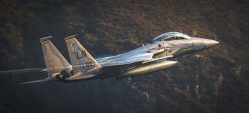 U.S.A.F. F15 från RAF Lakenheath Arkivbild
