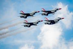 U.S.A.F.-F--16Thunderbirds Arkivbilder