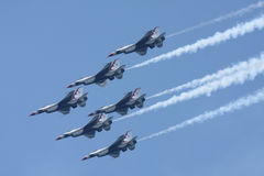 U.S.A.F. Thunderbirds Lizenzfreie Stockbilder