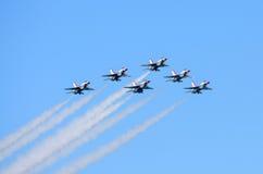 U.S.A.F.-Thunderbirds i bildande Arkivbilder