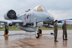 U.S.A.F.-warthog för 10 airmen Royaltyfria Bilder