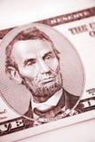U.S. five dollars Royalty Free Stock Photo
