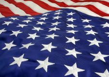 U.S. Flag. Close of of U.S. Flag lying down Stock Images
