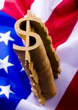 U.S.A flag & Dollar Stock Photos
